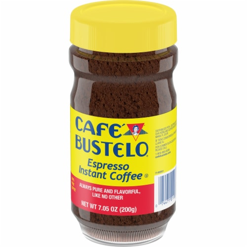 Cafe Bustelo Espresso Instant Coffee, 7.05 Ounce -- 12 per case. Perspective: front