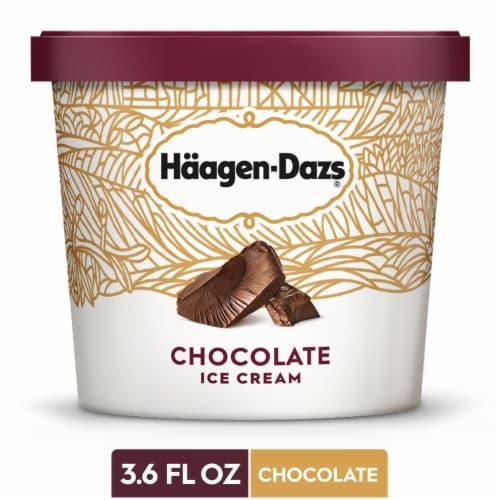 Haagen Dazs, Chocolate Ice Cream, 3.6 oz. Cup, (12 Count) Perspective: front