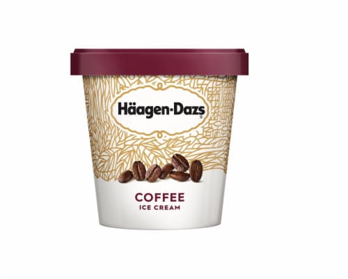 Haagen Dazs, Coffee Ice Cream, Pint (8 Count) Perspective: front