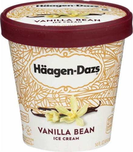 Haagen Dazs, Vanilla Bean ice cream, Pint (8 Count) Perspective: front