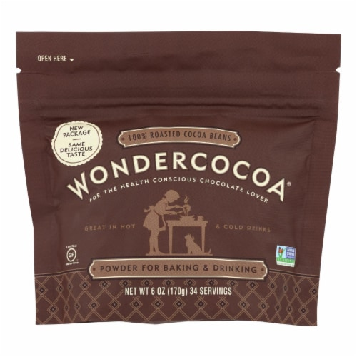 Wondercocoa - Wondercocoa Cocoa Powder - Case of 6 - 6 OZ Perspective: front