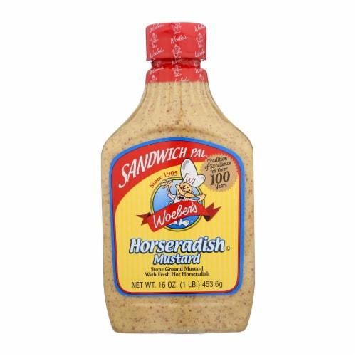 Woeber's, Sandwich Pal, Mustard, Horseradish - Case of 6 - 16 OZ Perspective: front