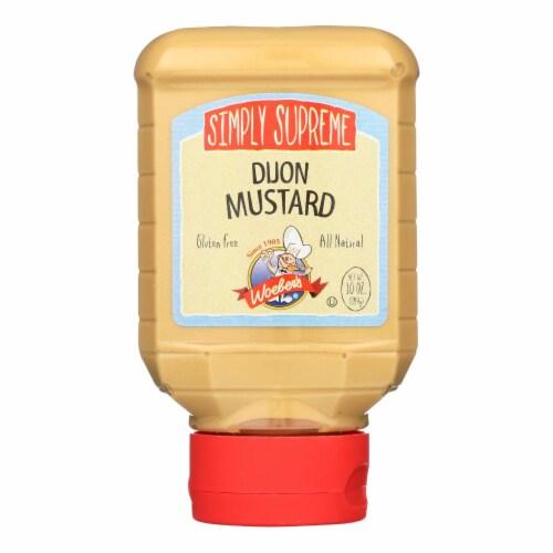 Woeber's Supreme Dijon Mustard - Case of 6 - 10 oz. Perspective: front