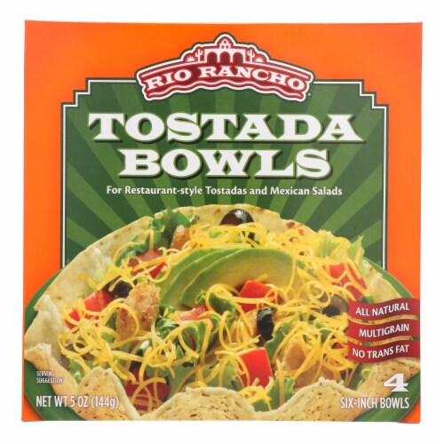 Rio Rancho Tostada Bowls  - Case of 6 - 4 CT Perspective: front