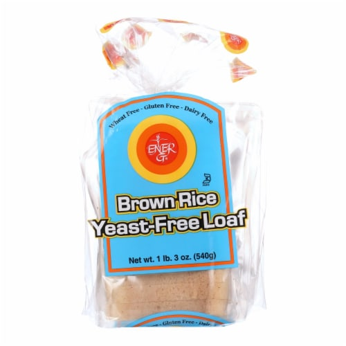 Ener-G Foods - Loaf - Brown Rice - Yeast-Free - 19 oz - case of 6 Perspective: front