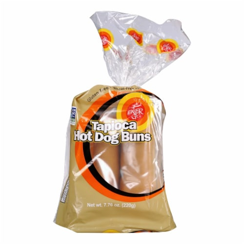 Ener-G Hot Dog Buns, Tapioca  - Case of 6 - 7.76 OZ Perspective: front