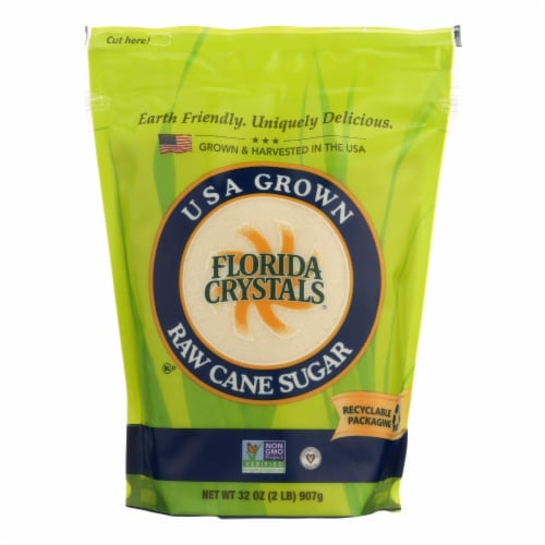 Florida Crystals Natural Cane Sugar - Cane Sugar - Case of 6 - 2 lb. Perspective: front