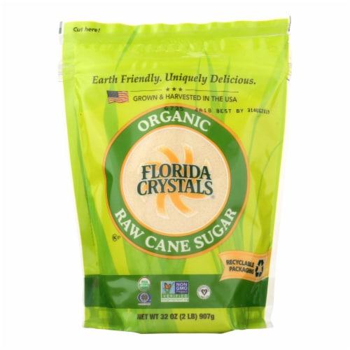 Florida Crystals Organic Cane Sugar - Cane Sugar - Case of 6 - 2 lb. Perspective: front