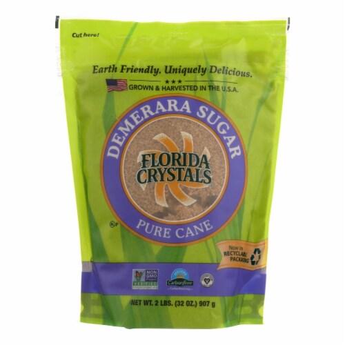 Florida Crystals Natural Demerara Sugar - Demerara Sugar - Case of 6 - 2 lb. Perspective: front