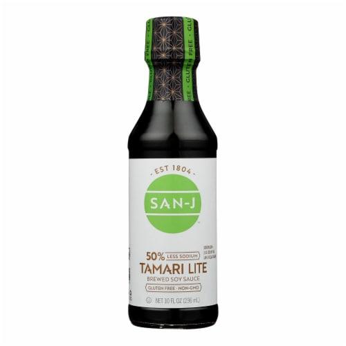 San - J Tamari Soy Sauce - Lite - Case of 6 - 10 Fl oz. Perspective: front