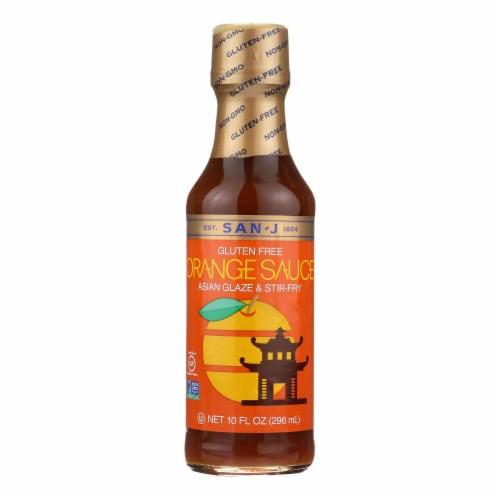 San - J Cooking Sauce - Orange - Case of 6 - 10 Fl oz. Perspective: front