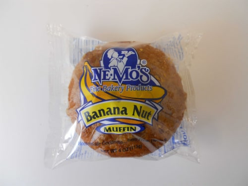 Ne-Mos Banana Nut Muffin, 4 Ounce -- 12 per case. Perspective: front