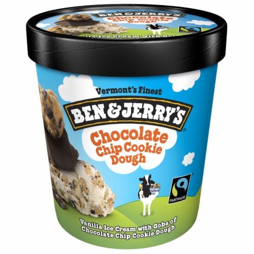 Ben & Jerry's Cookie Dough Ice Cream Perspective: front