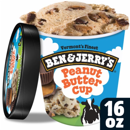Ben & Jerry's Peanut Butter Cup Ice Cream Perspective: front