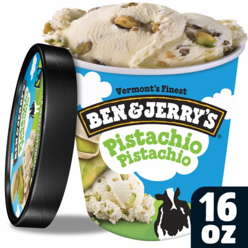 Ben & Jerry's Pistachio Pistachio Ice Cream Perspective: front