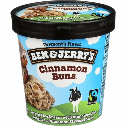 Ben & Jerry's, Cinnamon Buns Frozen Dessert, Pint (8 Count) Perspective: front