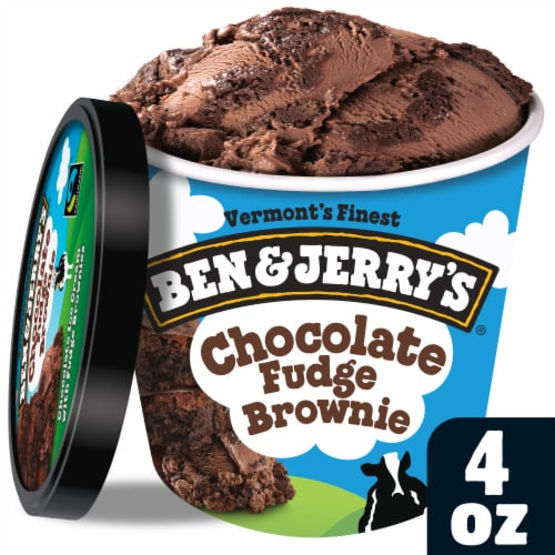 Ben & Jerry's Chocolate Fudge Brownie Ice Cream Perspective: front