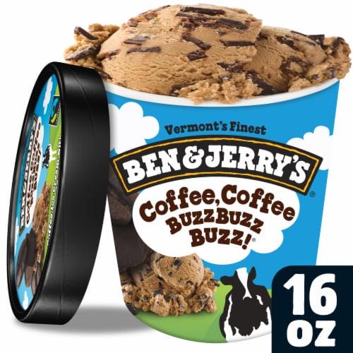 Ben & Jerry's Coffee Coffee Buzz Buzz Buzz Ice Cream Perspective: front