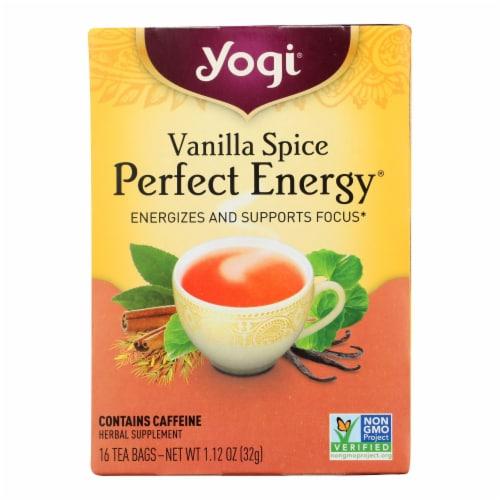 Yogi Perfect Energy Herbal Tea Vanilla Spice - 16 Tea Bags - Case of 6 Perspective: front