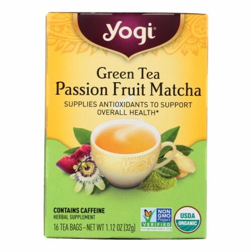 Yogi Tea - Organic - Green - Passionfruit Matcha - Case of 6 - 16 BAG Perspective: front