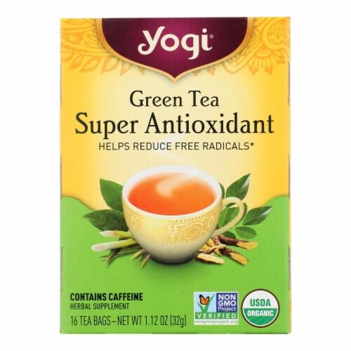 Yogi Tea Green Tea Super Antioxidant - 16 Tea Bags Perspective: front