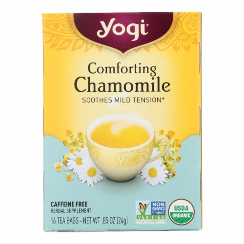 Yogi Organic Comforting Chamomile - 16 Tea Bags - Case of 6 Perspective: front