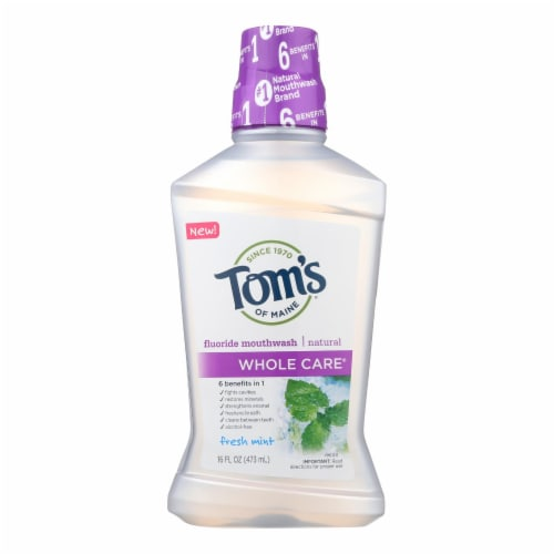 Tom's Of Maine - Mouthwash Fresh Mint Whlc - 1 Each - 16 FZ Perspective: front