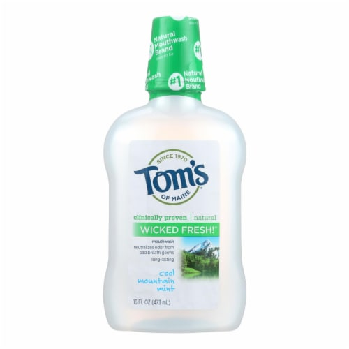 Tom's of Maine Cool Mountain Mint Mouthwash - 16 oz Perspective: front