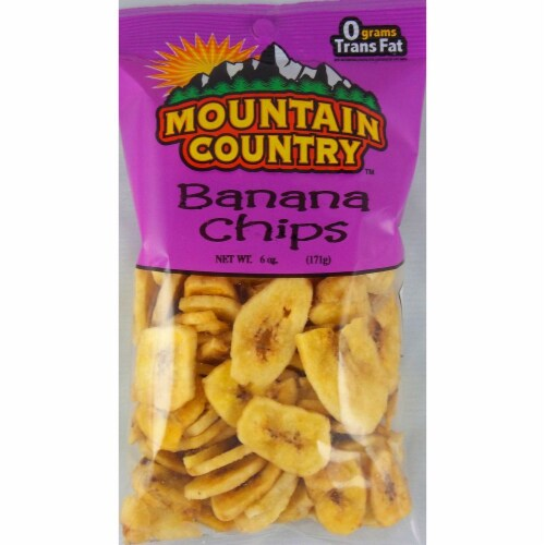 Mountain Country Banana Chips, 6 Ounce -- 6 per case. Perspective: front