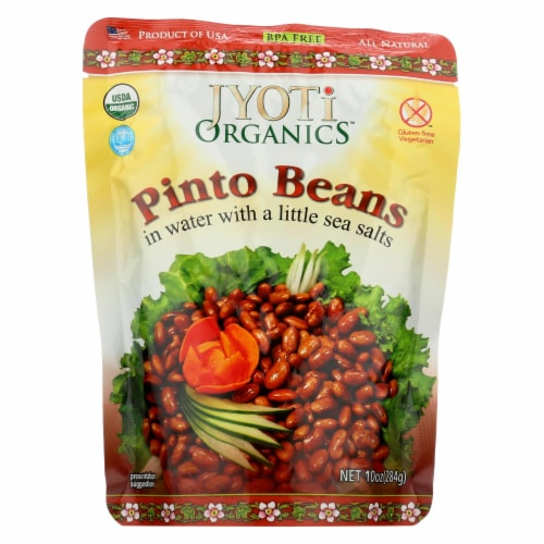 Jyoti Cuisine India Pinto Beans - Case of 6 - 10 oz. Perspective: front