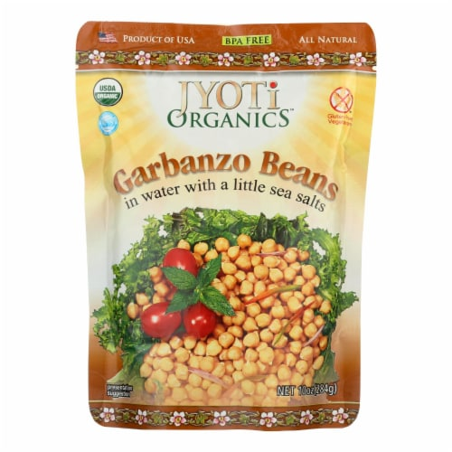 Jyoti Cuisine India Beans - Organic - Garbanzo - 10 oz - case of 6 Perspective: front