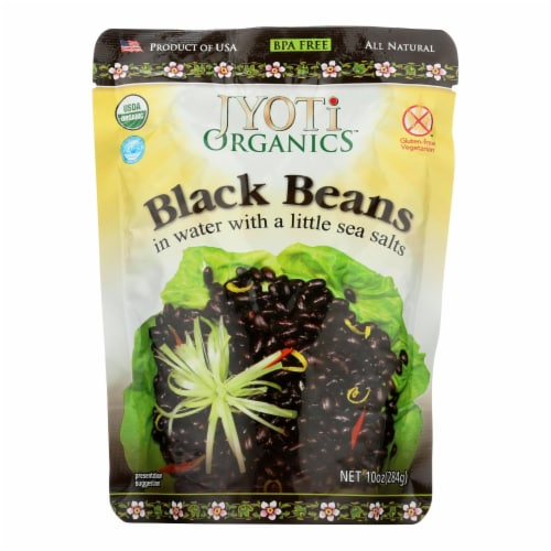 Jyoti Cuisine India Black Beans - Case of 6 - 10 oz. Perspective: front