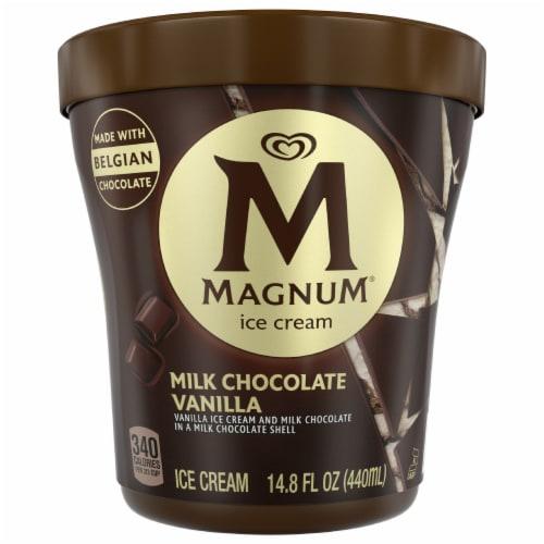Magnum Milk Chocolate Vanilla Ice Cream Perspective: front