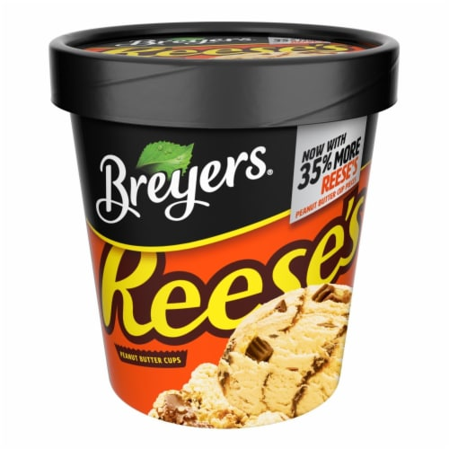 Breyers, Reese's Peanut Butter Cups Ice Cream, Pint (8 Count) Perspective: front