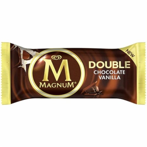 MAGNUM Double Chocolate Vanilla Ice Cream Bar 3.04 oz. (12 count) Perspective: front
