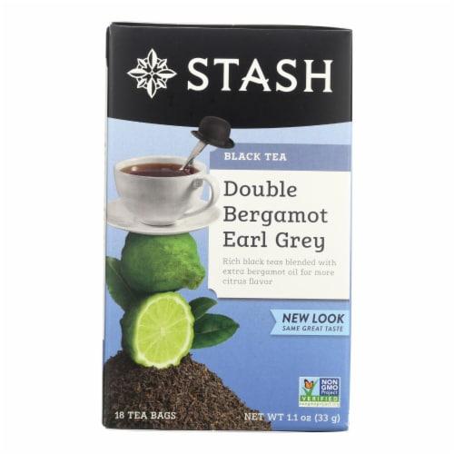 Stash Tea Earl Grey Black - Double Bergamot - Case of 6 - 18 Bags Perspective: front