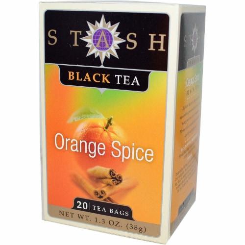 Stash Tea Tea - Black - Orange Spice - Case of 6 - 20 count Perspective: front