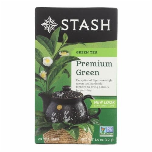 Stash Tea Organic Green Tea - Premium - Case of 6 - 20 Bags Perspective: front