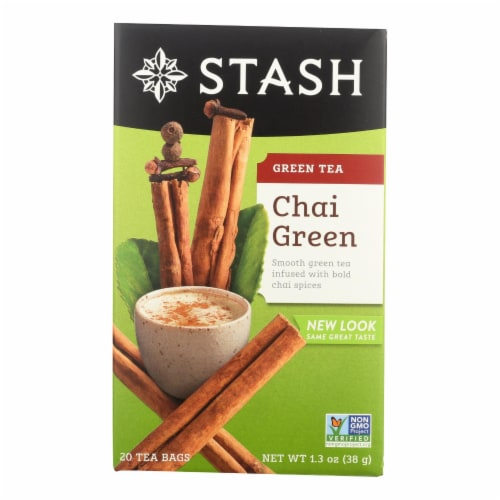 Stash Tea Chai Green Tea - Case of 6 - 20 Bags Perspective: front