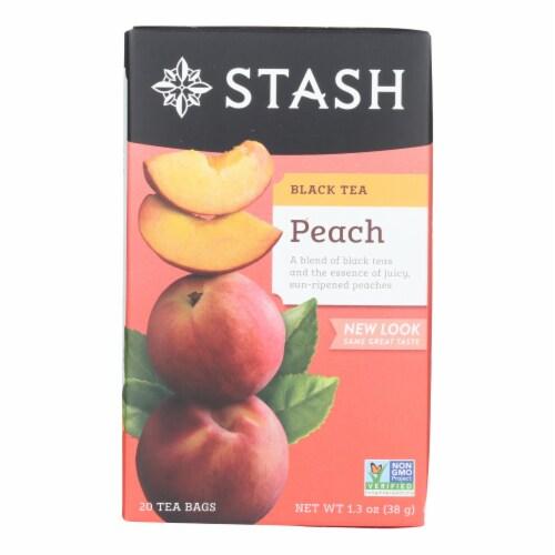 Stash Tea Tea - Black Peach - Case of 6 - 20 count Perspective: front