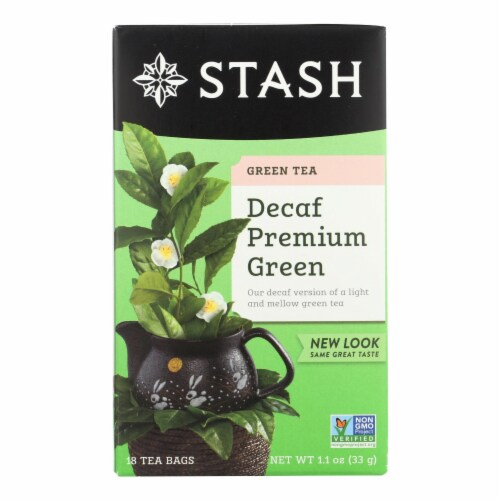Stash Tea Decaf Tea - Premium Green - Case of 6 - 18 Bags Perspective: front