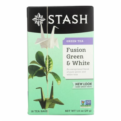 Stash Tea Green and White Fusion - 18 Tea Bags - Case of 6 Perspective: front