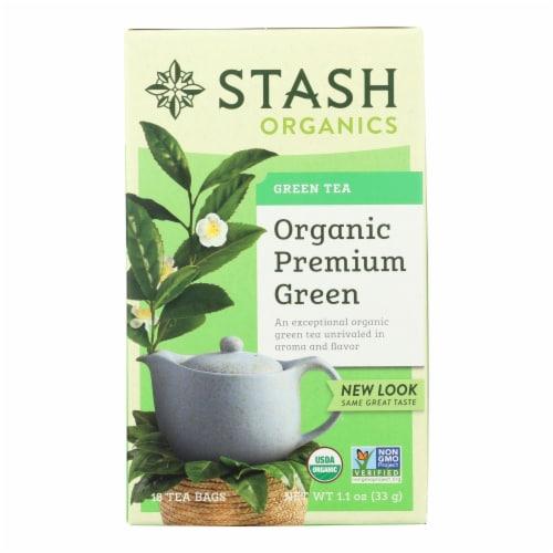 Stash Tea - Organic - Green - Premium - 18 Bags - Case of 6 Perspective: front
