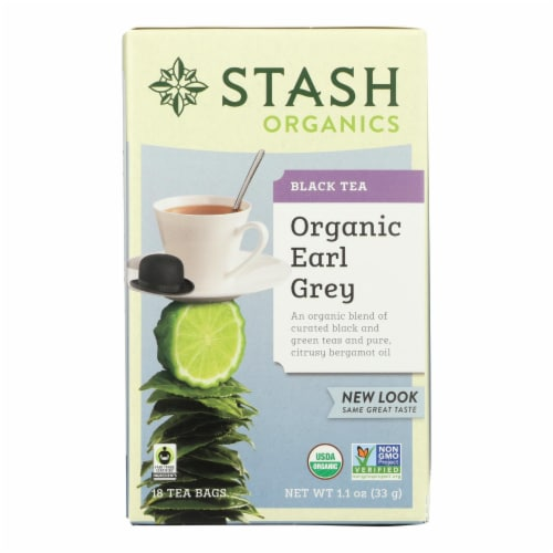 Stash Tea Organic Earl Grey Black and Green Tea - Case of 6 - 18 Bags Perspective: front