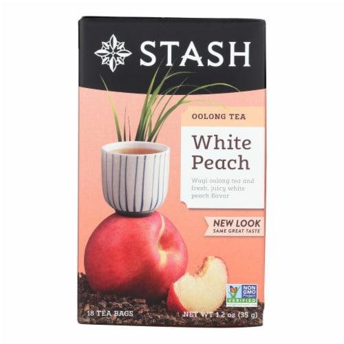 Stash Tea - Tea Oolong White Peach - Case of 6 - 18 BAG Perspective: front