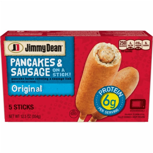 Jimmy Dean Original Pancake and Sausage On Stick, 12.501 Ounce -- 6 per case. Perspective: front