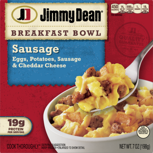 Jimmy Dean Sausage Egg & Cheese Breakfast Bowl Frozen Entree Perspective: front