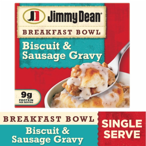 Jimmy Dean Biscuit and Sausage Gravy Breakfast Bowl Perspective: front
