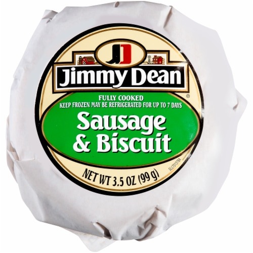 Jimmy Dean® Sausage Biscuit, 3.5 oz, 12 Count, 2.63 Lbs Perspective: front