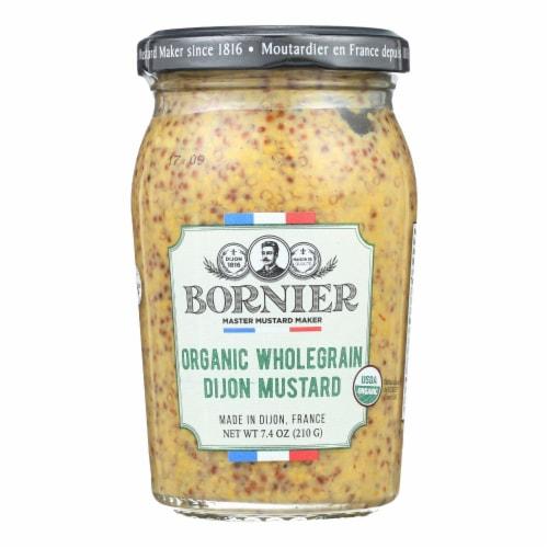 Bornier - Mustard - Organic Whole Grain - Case of 6 - 7.4 oz. Perspective: front